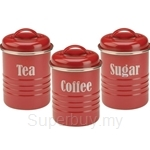 Typhoon Vintage Set of 3 Small Canisters