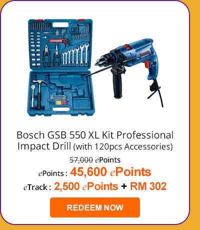 Bosch GSB 550 XL Kit Professional Impact Drill
