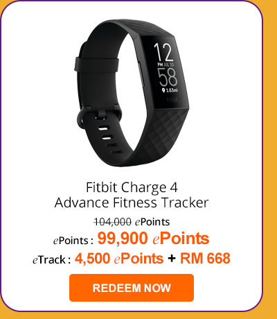 Fitbit Charge 4 Advance Fitness Tracker