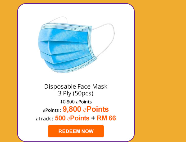 Disposable Face Mask 3 Ply