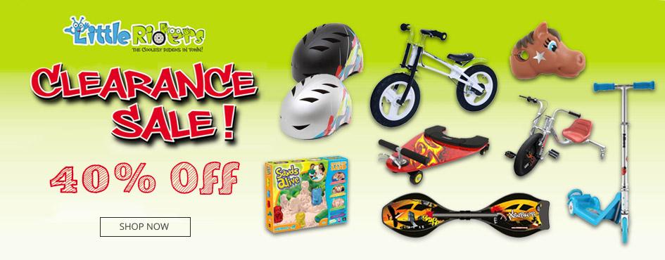 40% Off LittleRiders Clearance Sale