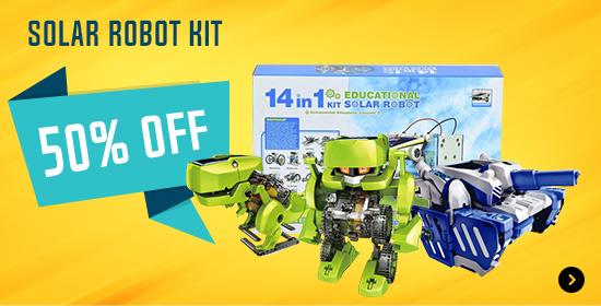 50% Off Solar Robot Kit