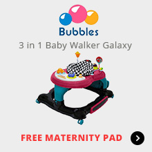 Bubbles 3 in 1 Baby Walker Galaxy