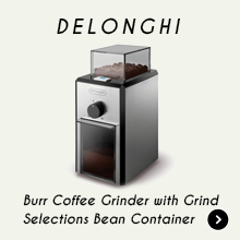Delonghi Burr Coffee Grinder with Grind Selection Bean Container