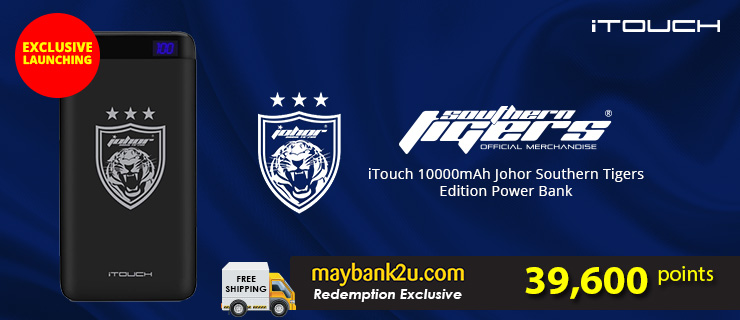 iTouch 10000mAh Johor Southern Tiger Edition Power Bank