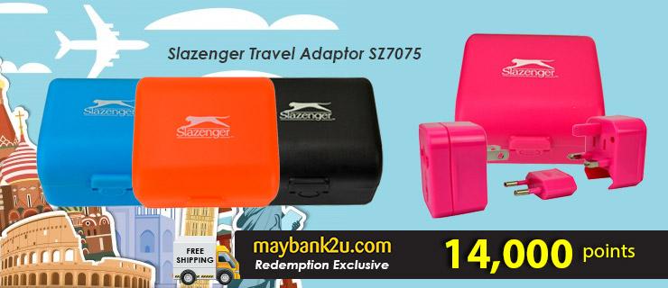 Slazenger Travel Adaptor SZ7075
