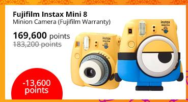Fujifilm Instax Mini 8 Minion Camera (Fujifilm Warranty)