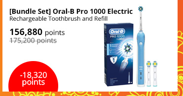 [Bundle Set] Oral-B Pro 1000 Electric Rechargeable Toothbrush and Refill