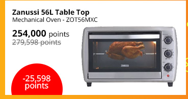 Zanussi 56L Table Top Mechanical Oven - ZOT56MXC