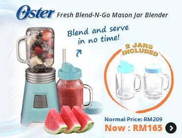 Oster Mason Jar Blender Fresh Blend-N-Go
