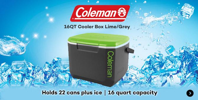 Coleman 16QT Cooler Box Lime/Grey