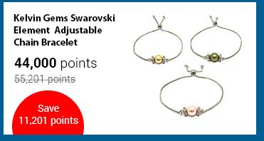 Kelvin Gems Swarovski Element Adjustable Chain Bracelet