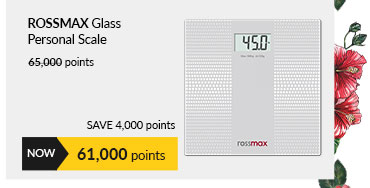 Rossmax Glass Personal Scale - Super Slim/Electronic WB101