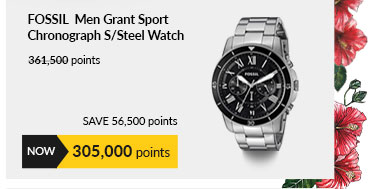 Fossil FS5236 Men Grant Sport Chronograph Stainless Steel Watch