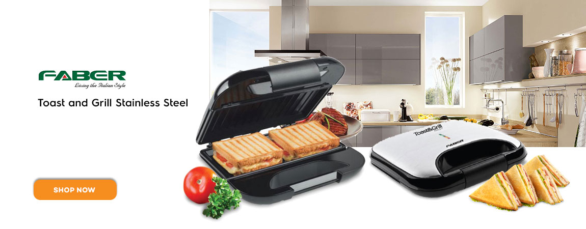 Faber Toast and Grill Stainless Steel