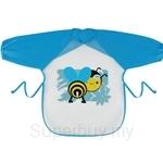 Naforye Mealtime Waterproof Bib Long Sleeves-Bee - 99401