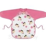 Naforye Mealtime Waterproof Bib Long Sleeves-Butterflies - 99405