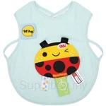 Naforye Funny Label Baby Bib Vest Ladybug - 99586