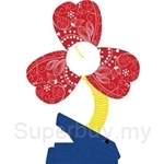 Simple Dimple Red Clip on Fan - FF03