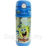 Thermos 0.35L Nick Ice Cold Straw Bottle Spongebob - F4002SB