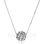 Kelvin Gems Glam Small Silver Diva Ball Pendant Necklace