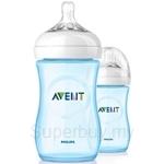 Philips Avent Natural Blue Bottle 9oz / 260ml Twin Pack - SCF695-27