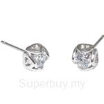 Kelvin Gems Premium Four Heart Stud Earrings