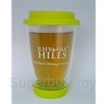 Rhymba Hills 400ml Double Wall Glass Mug FREE Sample Tea Pack