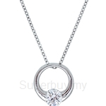 Kelvin Gems Premium Eternity Pendant Necklace