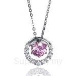 Kelvin Gems Premium Multiway Pendant Necklace Made with Pink Austrian Zirconia
