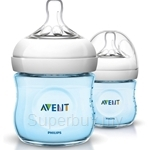 Philips Avent Natural Blue Bottle 4oz / 125ml Twin Pack - SCF692-27