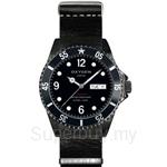 OXYGEN EX Diver Mobydick Black 40 Nato Leather Navy