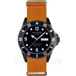 OXYGEN EX Diver Mobydick Black 40 Nato Leather Orange