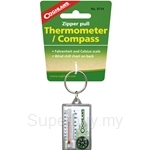 Coghlans Zipper Pull Thermometer with Compass - 9714
