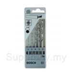 Bosch 5pcs 1/4 Inch Hexagon Shank HSS-G Set (2,3,4,5 & 6 mm) - 2608595517