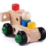 Kids Station 30 Pcs Changeable Nut Building Blocks Car - ETY5823