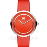 Danish Design All Red Dial Leather Band Women's Watch - IV24Q1064