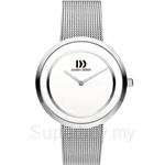 Danish Design White Dial Stainless Steel Mesh Women's Watch - IV62Q1064