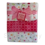 Bumble Bee 100% Cotton 3-Receiving Blankets Pink Flower - BLK0033
