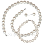Kelvin Gems Basic SWAROVSKI Pearl Full Gift Set Crafted by Angie - (45cm Necklace)