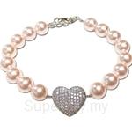 Kelvin Gems Adore Pink Swarovski Pearl Bracelet Crafted By Angie