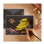 Lago Cherry Blossom Scratch Postcard