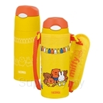 Thermos Miffy 400ml Ice Cold Bottle Yellow with Bag - FHL-400FB-Y