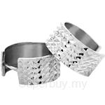 Poh Kong Circular Diamond Cut 9K White Gold Earrings - 205043