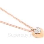 Poh Kong Triple Hearts 18K Rose Gold Diamond Pendant - 280398