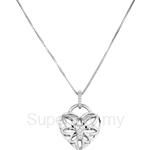 Poh Kong Angel Wing Love Lock 18K White Gold Diamond Pendant - 197656