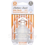 SIMBA Wide Neck Round Hole Mother's Toch Anti-Colic Nipple 2pcs