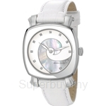 [ANNIVERSARY] Pierre Cardin Fresque All White Square Dial Ladies Watch - PC105652F01