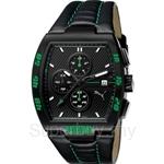 Puma Leader Black Leather Strap Men Watch - PU102221003