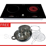 Aeres EZCook Premium Double Cooker with Free Gift worth RM298 - AER01i